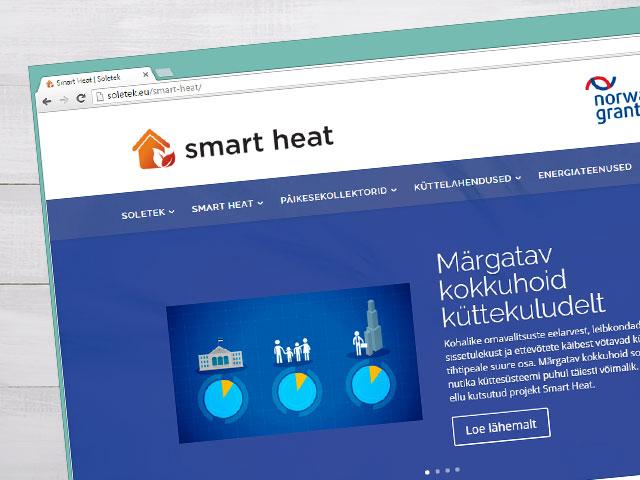 Smart Heat'i veebilehe kujundus
