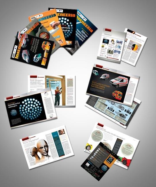 """Ajakirja """"Inseneeria"""" kujundus 2008-2012"""