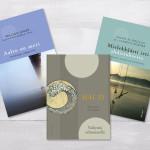 Kolme raamatu kaanekujundus