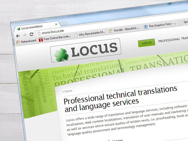 Tõlkebüroo veebilehe kujundus