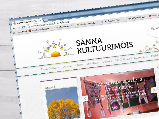 Sänna Kultuurimõisa veebilehe kujundus