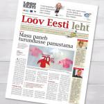 """Ajalehe """"Loov Eesti leht"""" kujundus"""