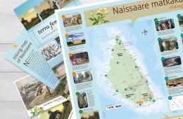 Naissaare infostendid, postkaardid ja brošüür