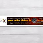 Pop, indie, hiphop ja techno -näyttelyn mainosten suunnittelu