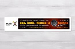 """Pop, indie, hiphop ja techno"" kujundus"