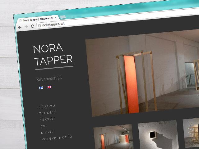 Skulptori veebilehe kujundus