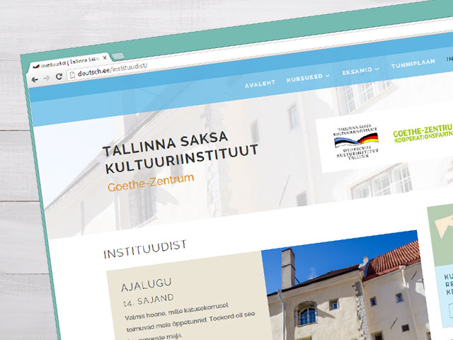 Website design for a culture institute