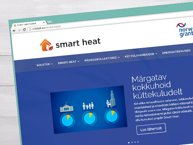 Website for an energy company