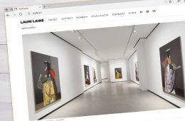 Kunstniku veebilehe kujundus